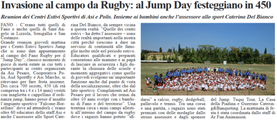 Jump Day, che invasione al campo da rugby By FanoInforma