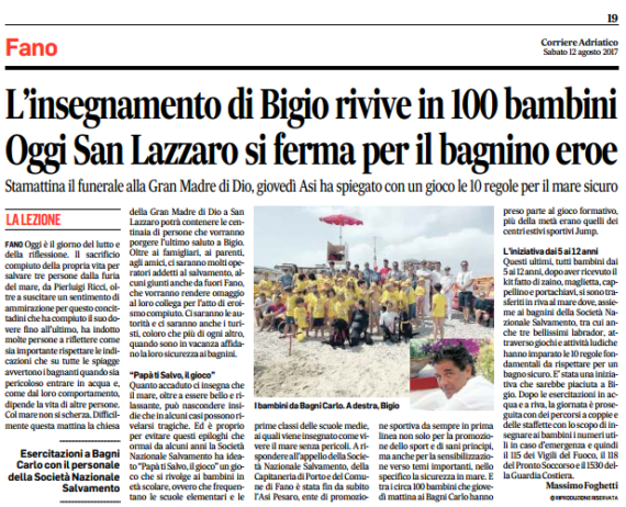 L'insegnamento di Bigio rivive in 100 bambini By Corriere Adriatico