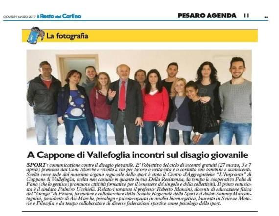 A Cappone il primo corso organizzato dal CONI Marche by FanoInforma