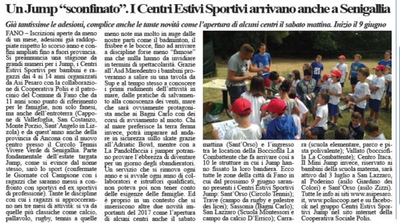 Un centro estivo sconfinato, il Jump arriva fino a Senigallia by Occhi Alla Notizia