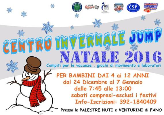 Asi Pesaro e Asd Sportfly presentano il Centro Invernale Jump