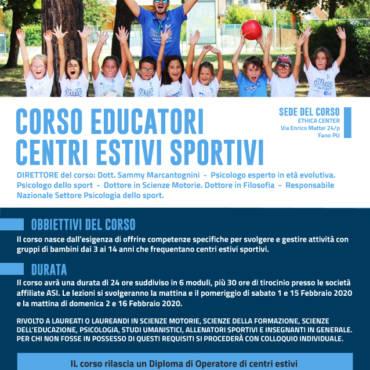 A febbraio di nuovo in aula: obiettivo i Centri Estivi Sportivi JUMP 2020
