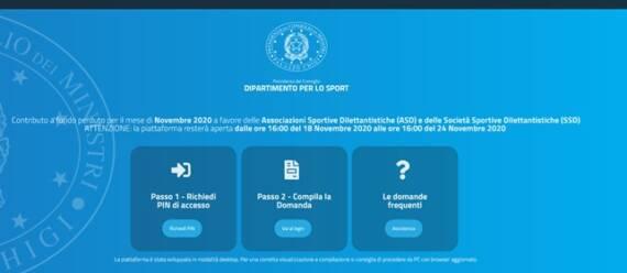 Contributi per ASD/SSD – Fondo Perduto